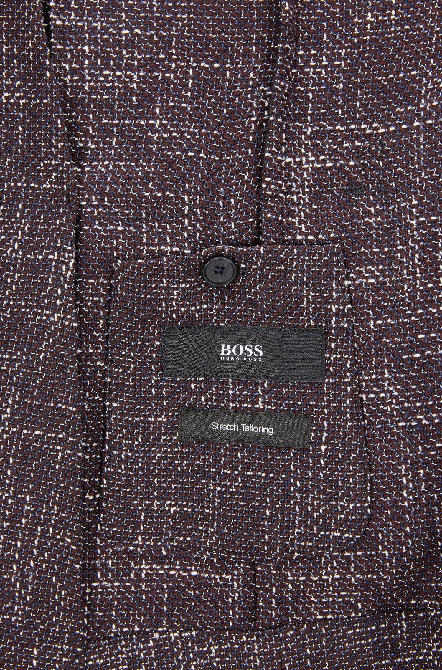 Virgin Wool Blend Tweed Sport Coat, Slim Fit | Nold, Dark Red