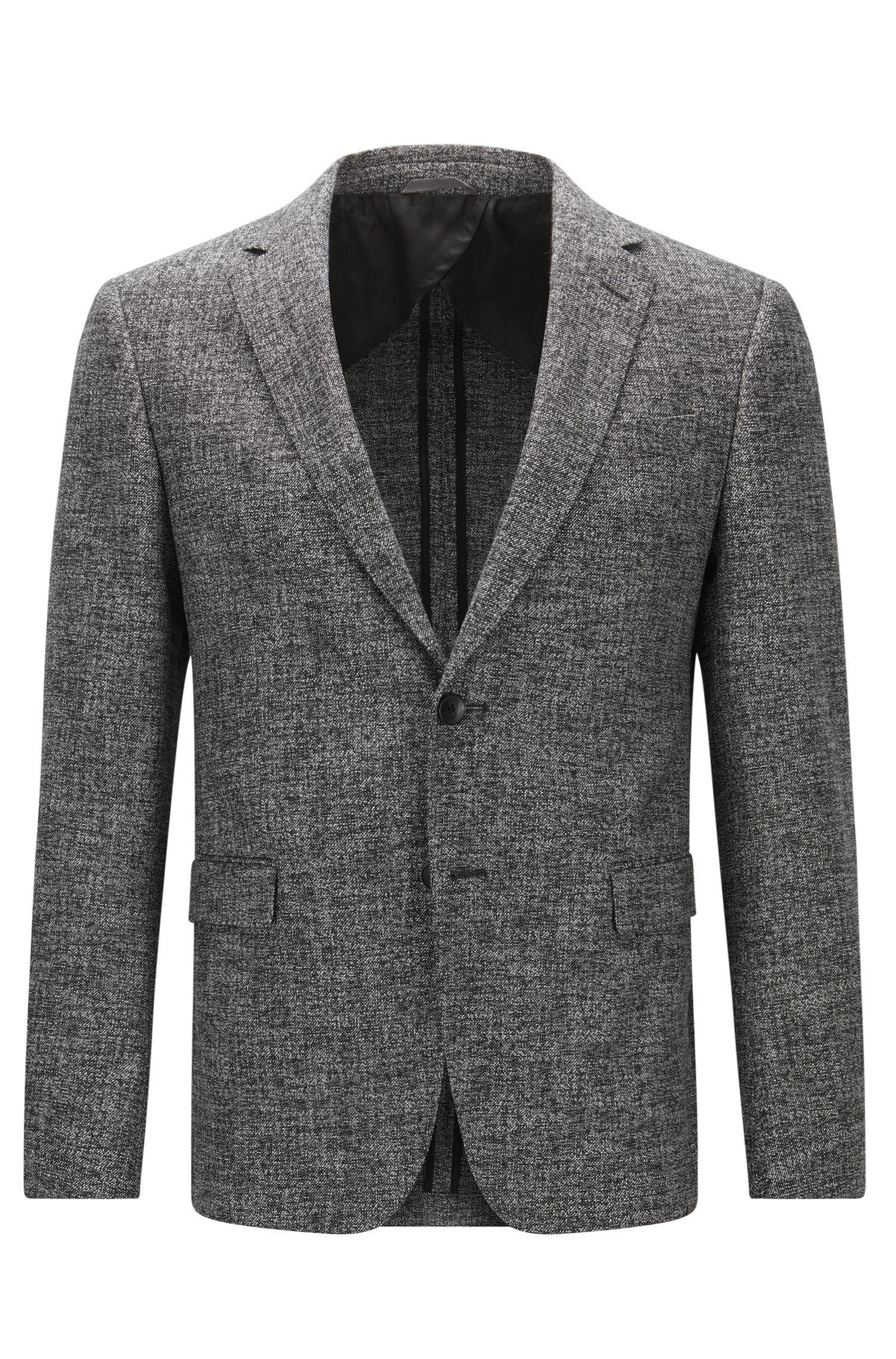 Stretch Cotton Wool Sport Coat, Slim Fit | Nobis