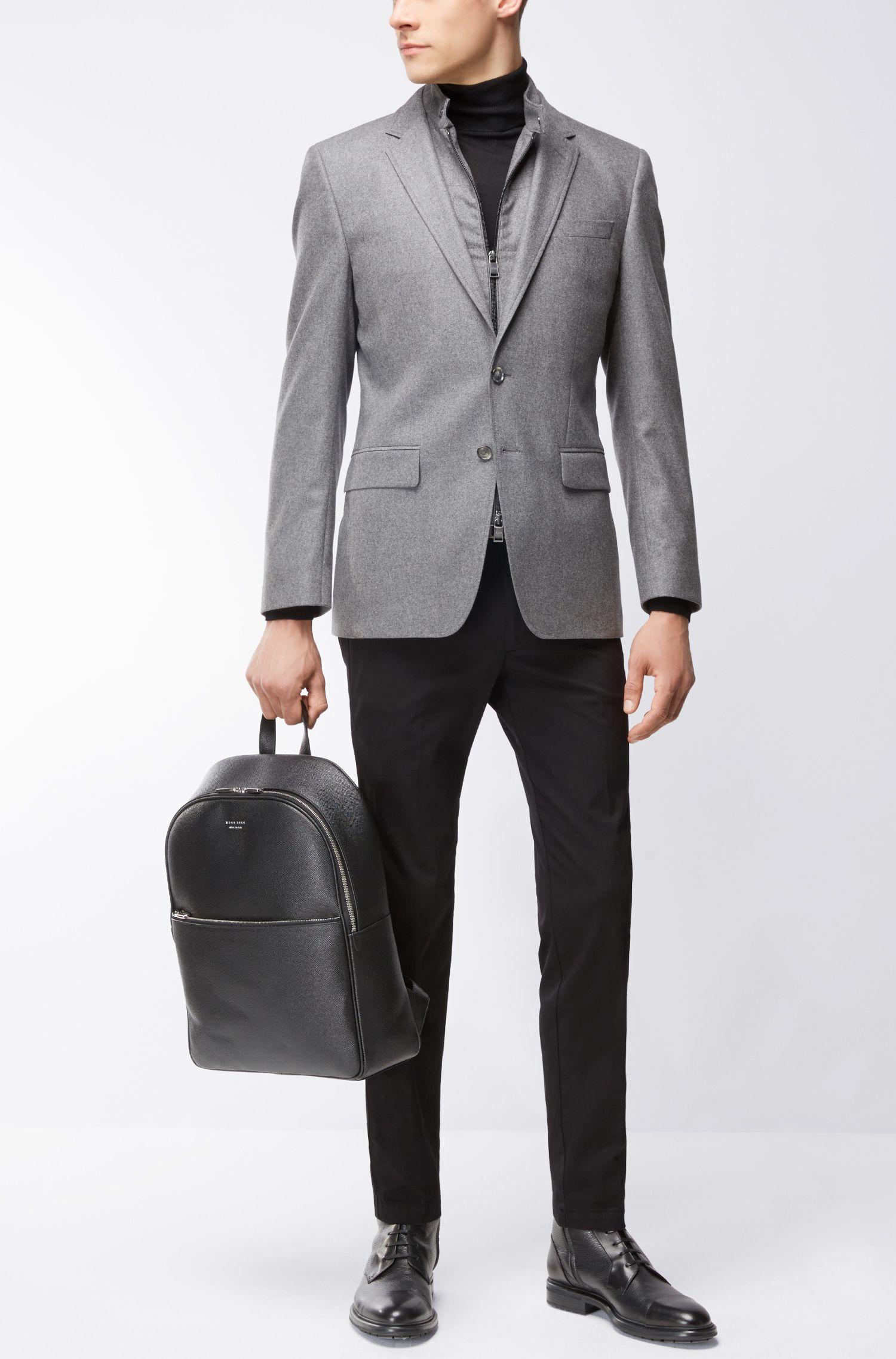 Stretch Virgin Wool-Cashmere Sport Coat, Slim Fit   Hadwart