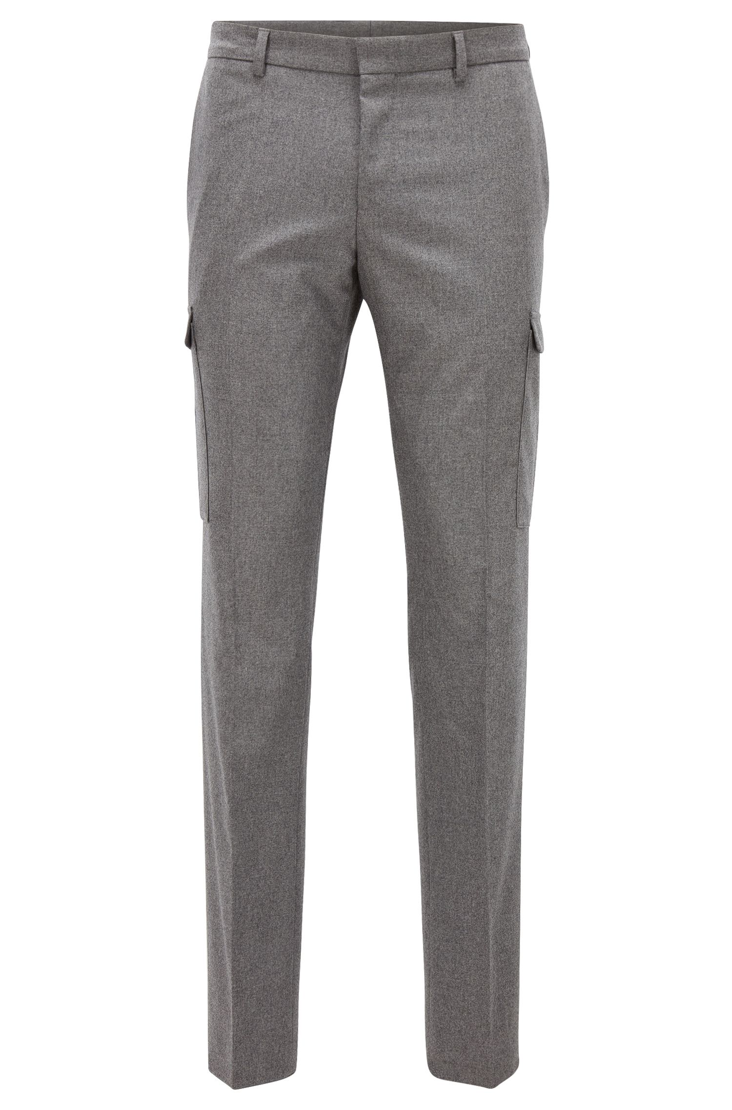 Stretch Virgin-Wool Cashmere Cargo Pants, Extra Slim Fit | Balour