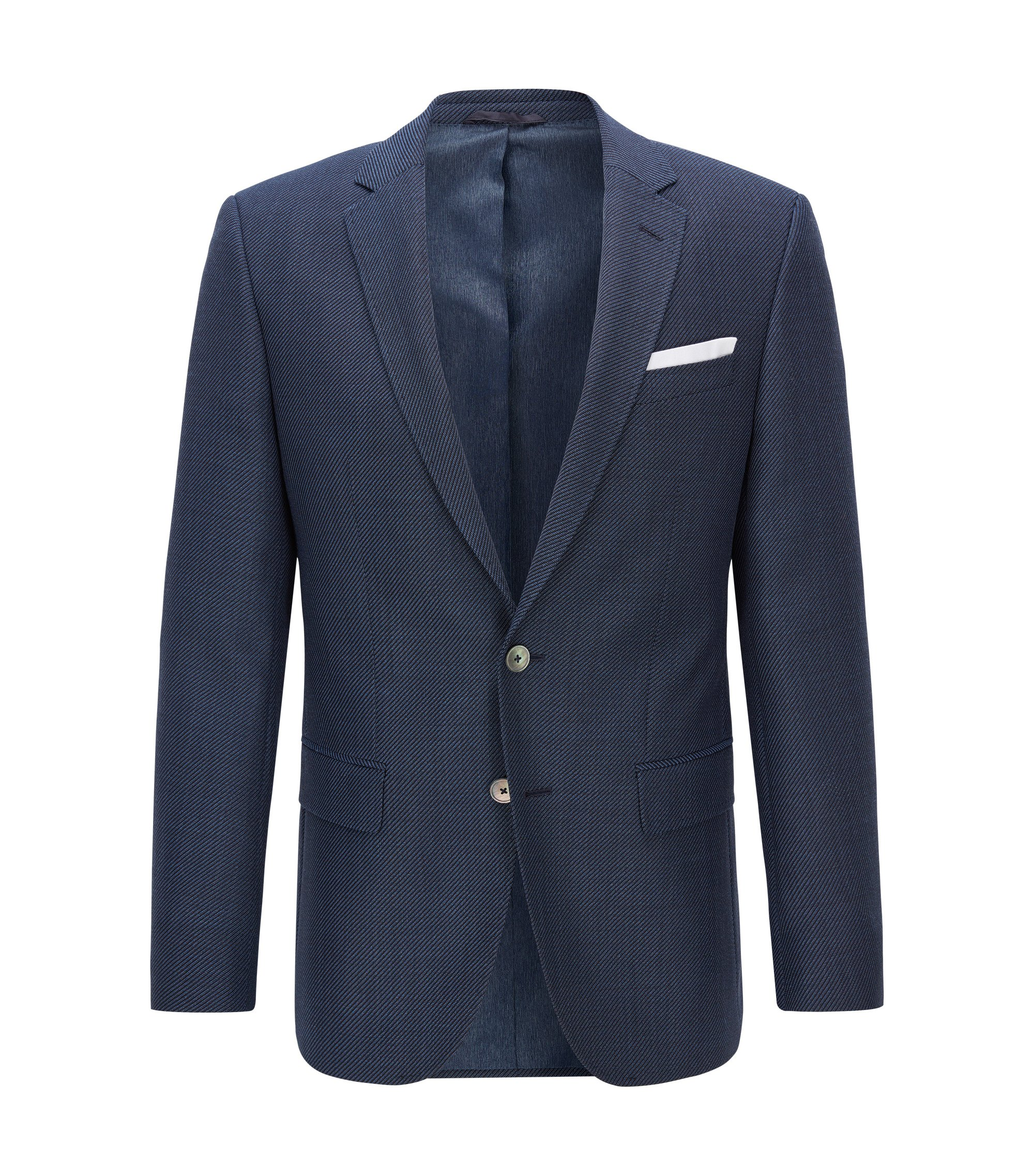 Virgin Wool Sport Coat, Slim Fit | Hutsons, Dark Blue