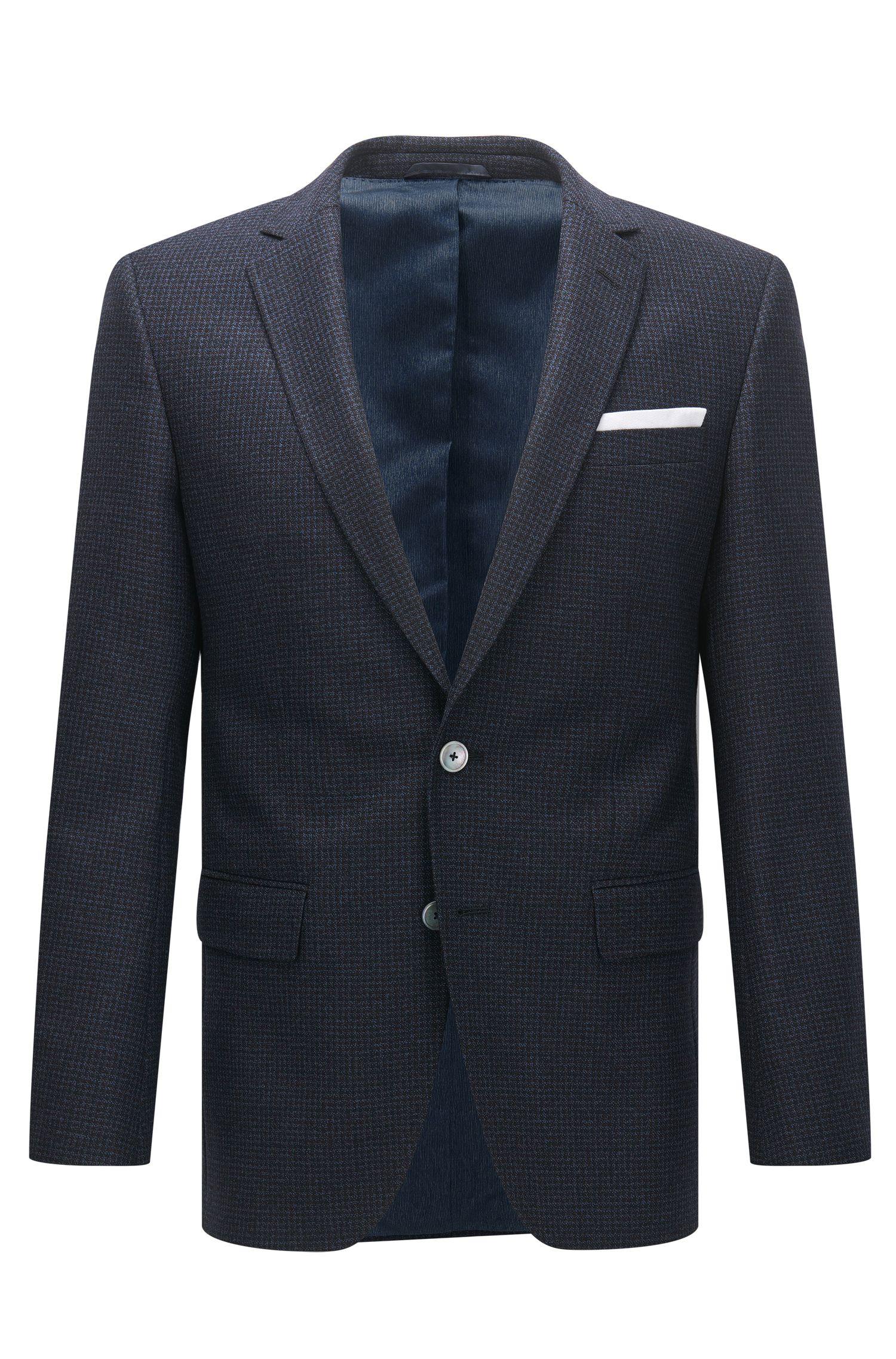 Micro-Check Super 100 Virgin Wool Sport Coat, Slim Fit | Hutsons