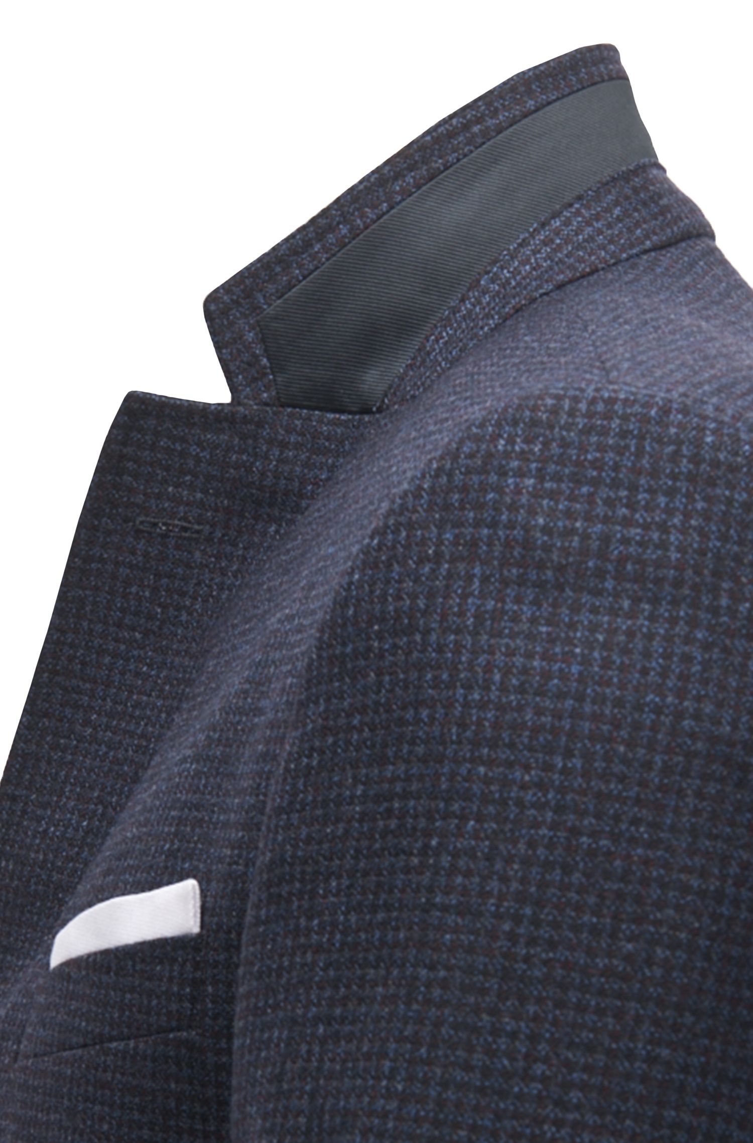 Micro-Check Virgin Wool Sport Coat, Slim Fit | Hutsons