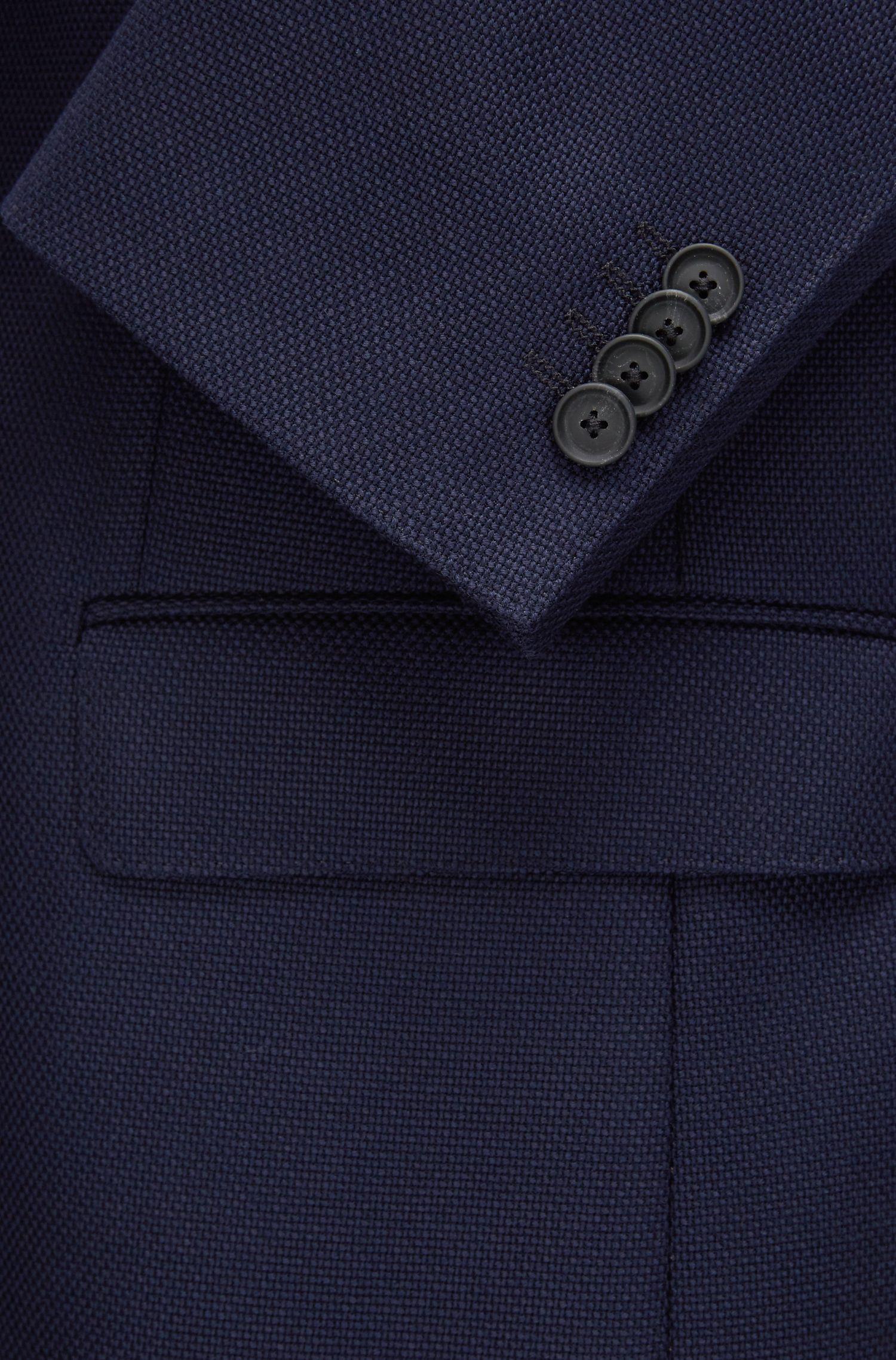Stretch Virgin Wool Travel Sport Coat, Regular Fit | Jet, Dark Blue