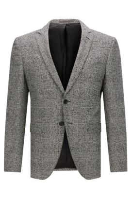 'Rainald' | Glen Plaid Wool Blend Sport Coat, Black