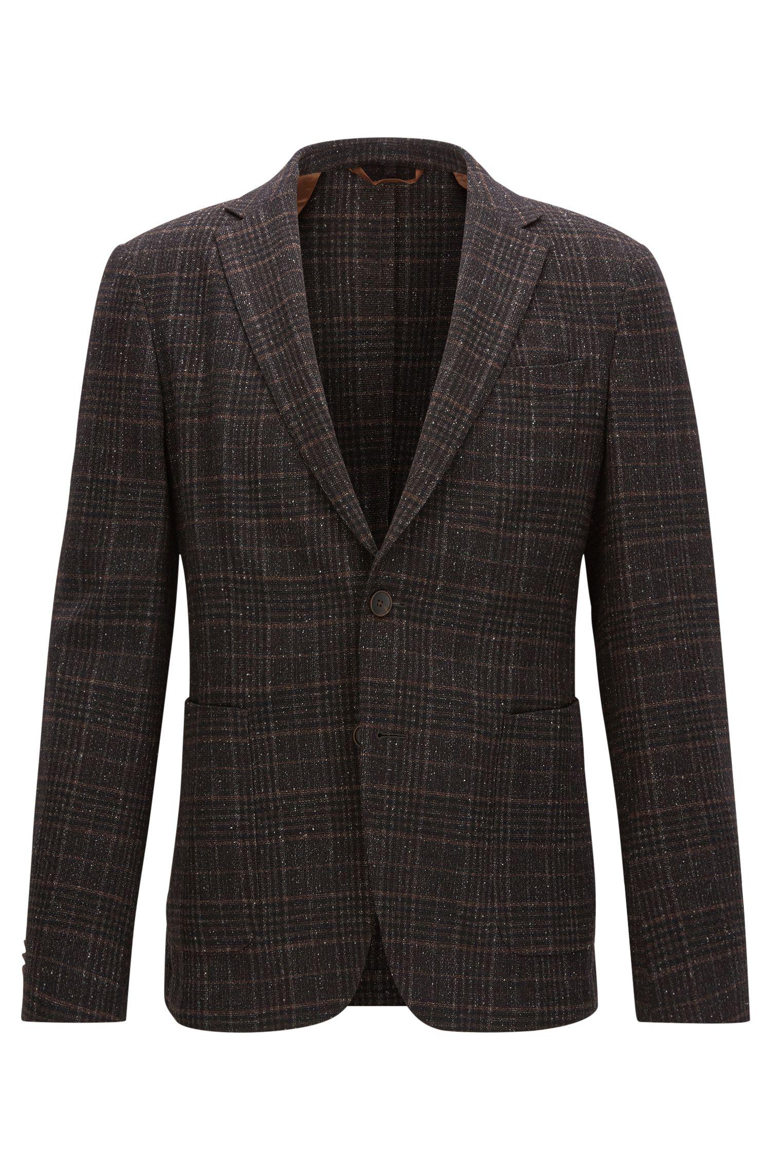 Plaid Wool Blend Sport Coat, Slim Fit | Nold