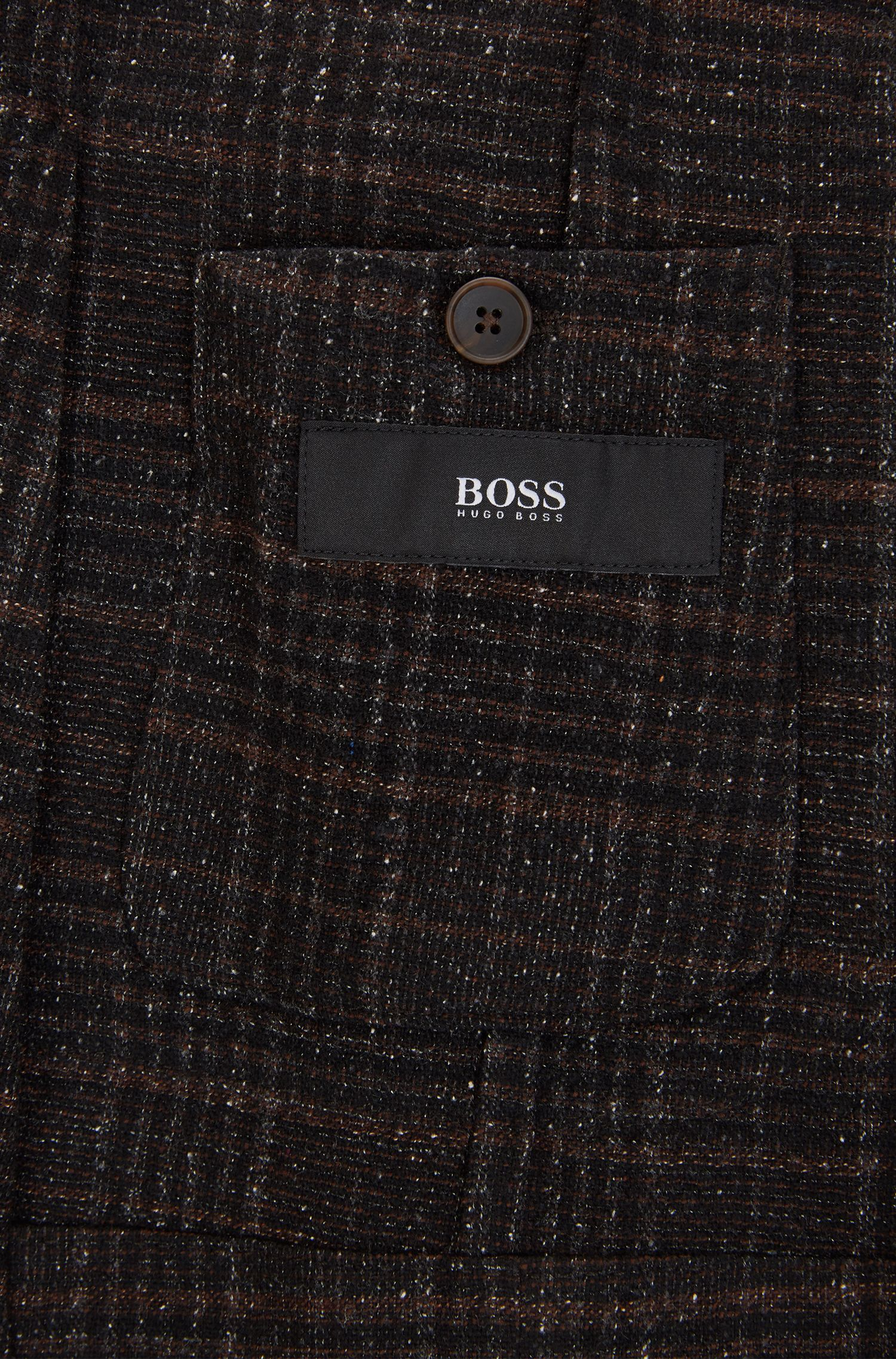 Plaid Wool Blend Sport Coat, Slim Fit | Nold