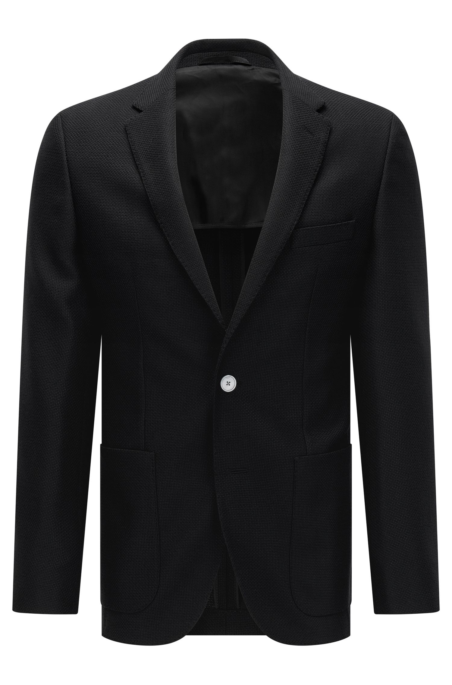 Basketweave Virgin Wool Sport Coat, Regular Fit   Janson