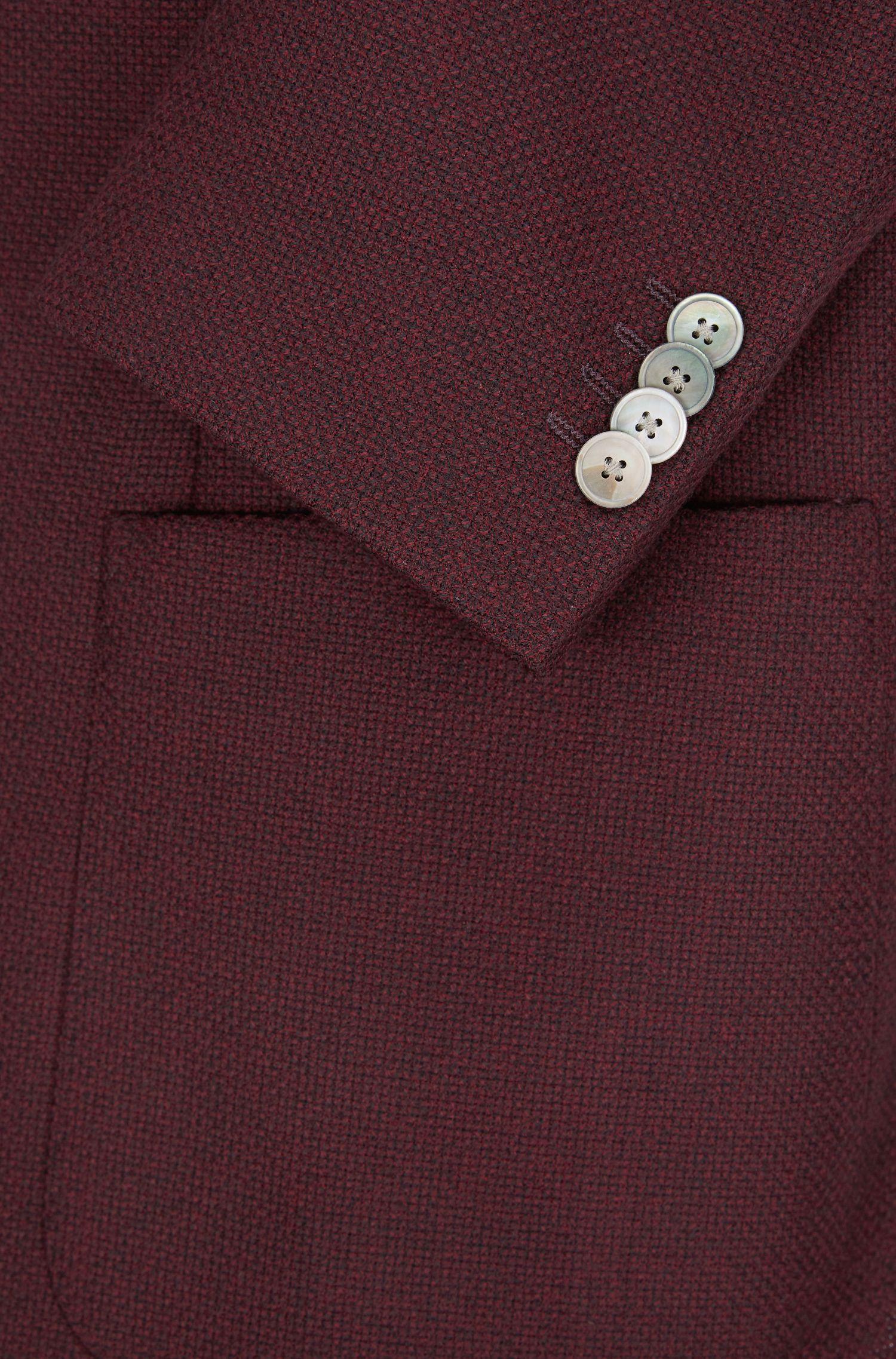 Basketweave Virgin Wool Sport Coat, Regular Fit | Janson, Dark Red