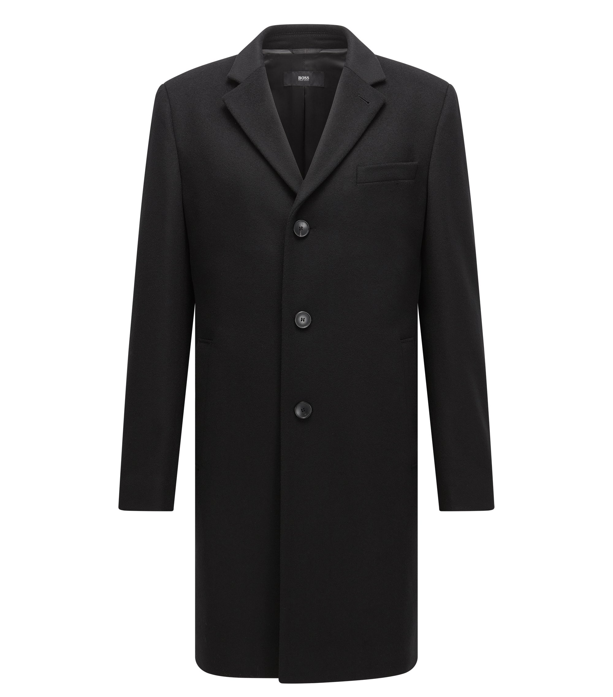Wool Cashmere Top Coat | Nye, Black
