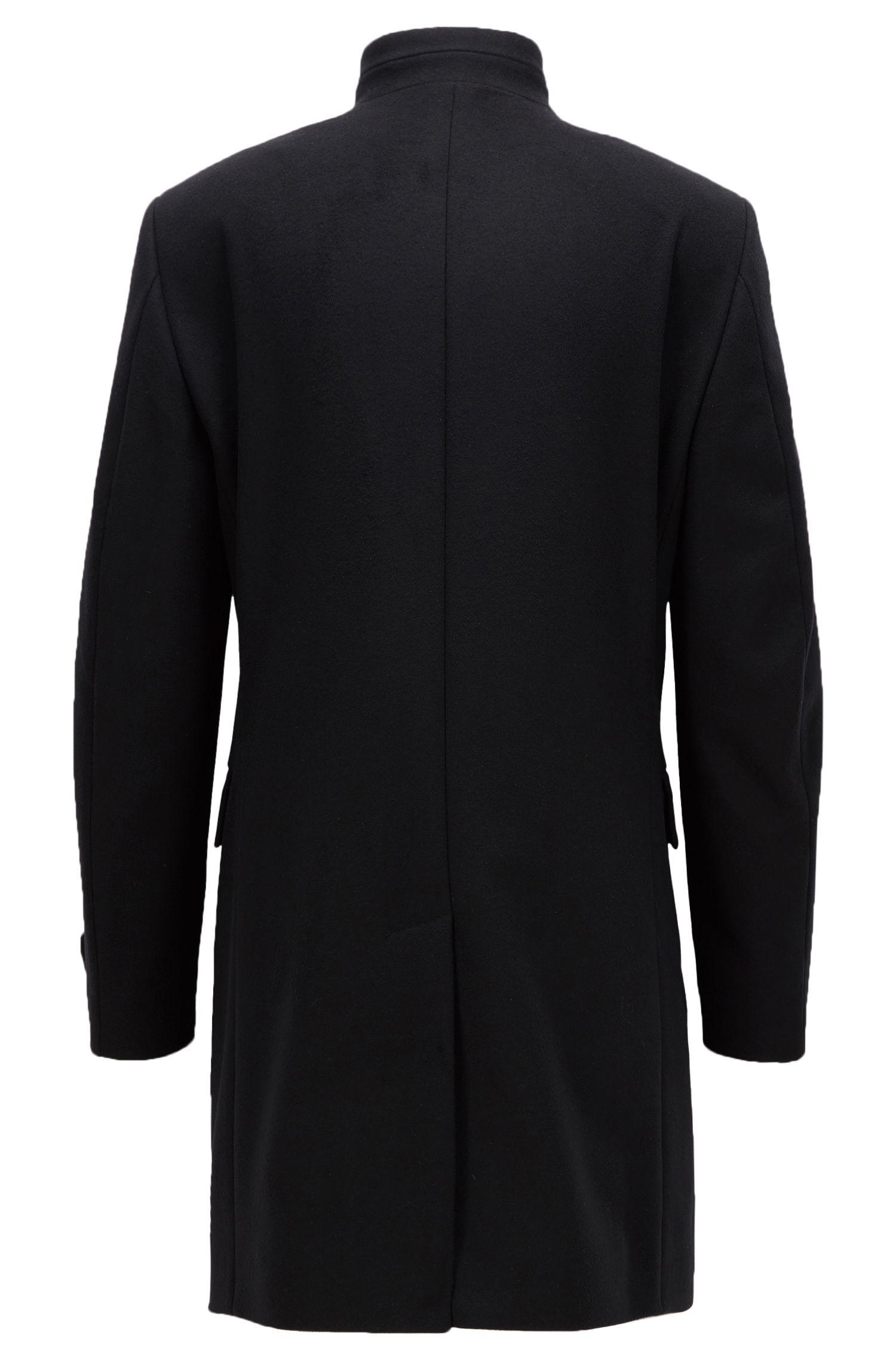 Virgin Wool Cashmere Coat | Sintrax, Black