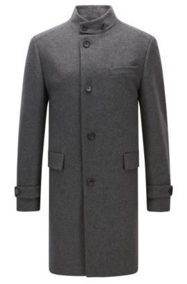 Virgin Wool Cashmere Coat | Sintrax, Grey