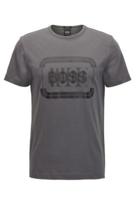Logo-Print Graphic T-Shirt | Tee, Charcoal