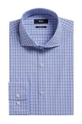 Plaid Cotton Dress Shirt, Sharp Fit | Mark US, Purple