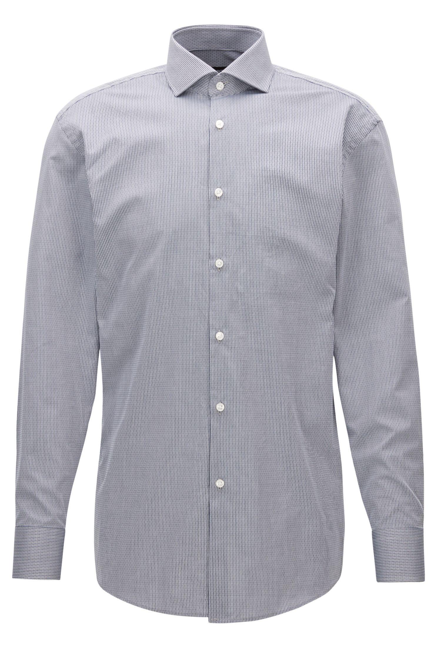 Pinstripe Patterned Cotton Dress Shirt, Sharp Fit | Mark US