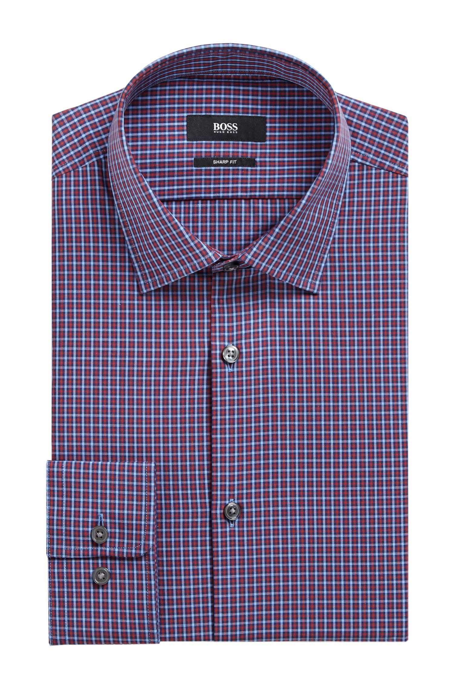 Plaid Cotton Dress Shirt, Sharp Fit | Marley US