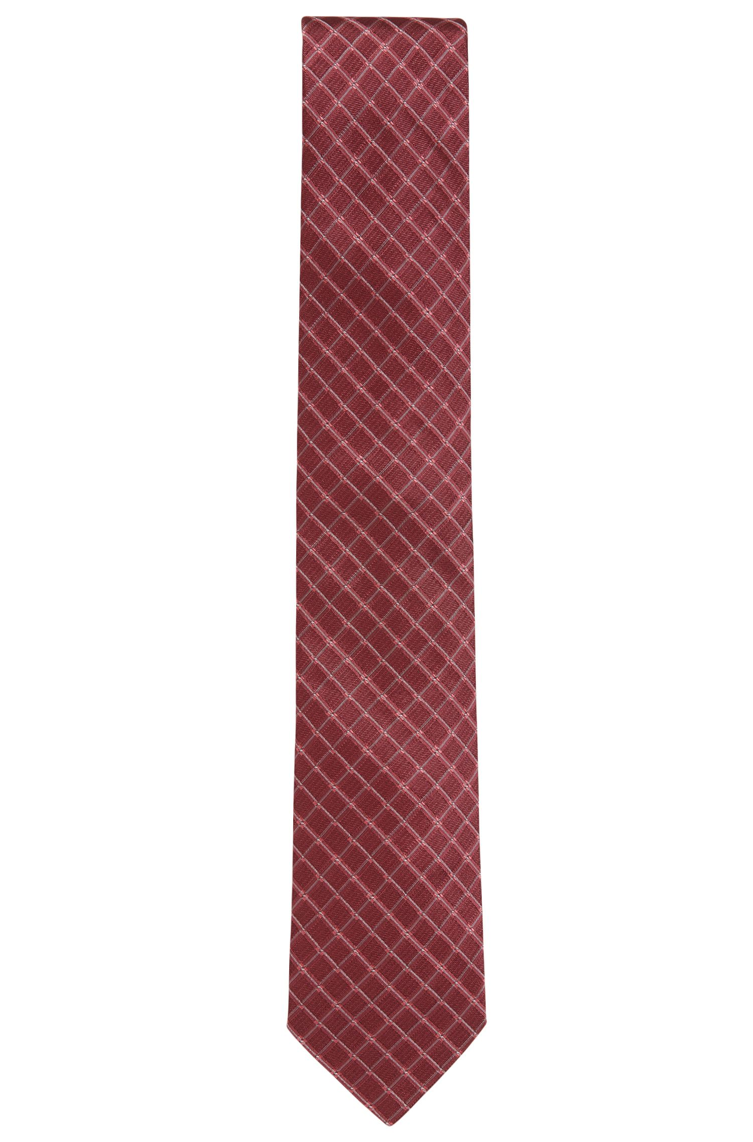 Checked Italian Silk Tie