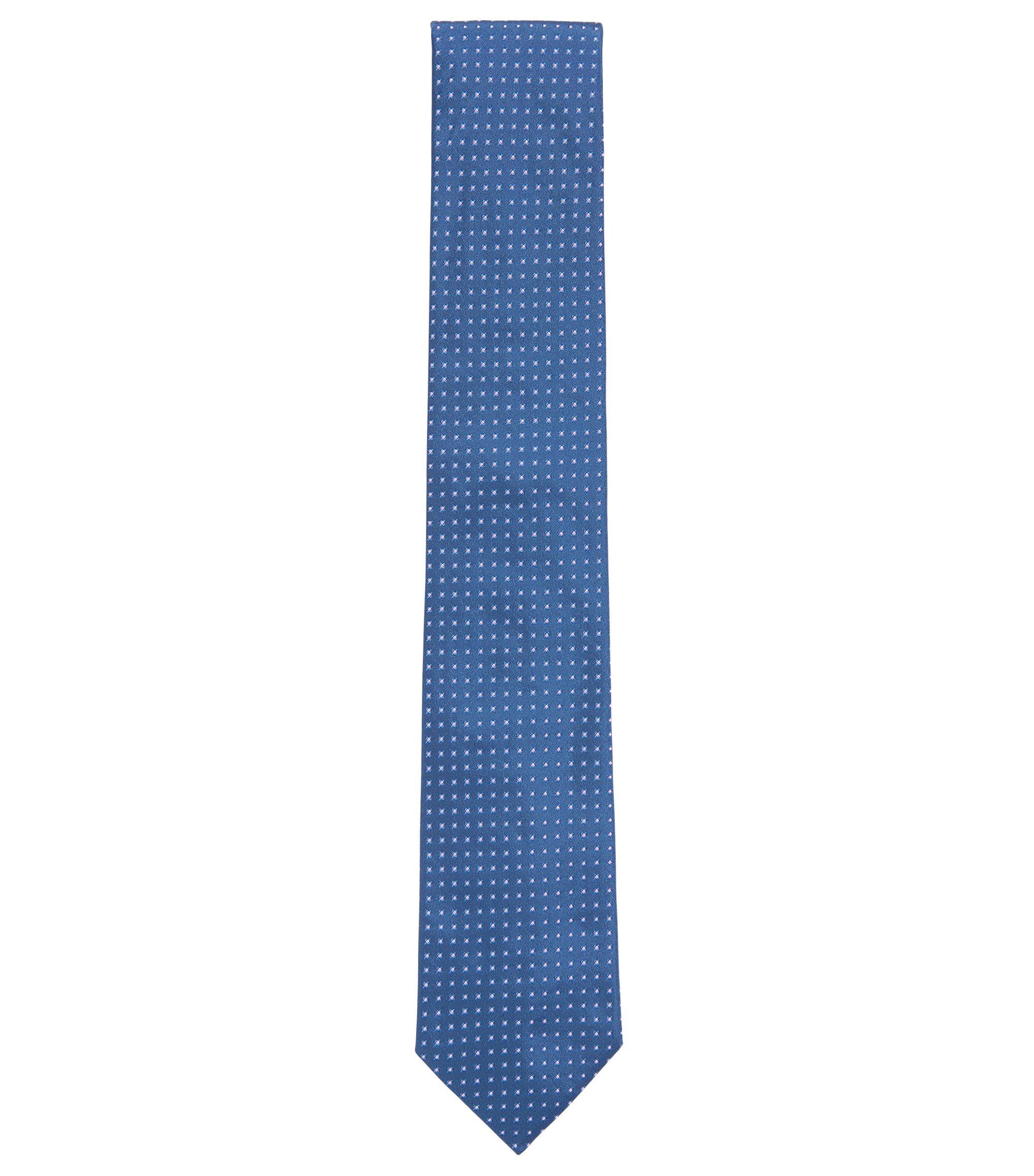 Geometric Italian Silk Tie, Light Blue