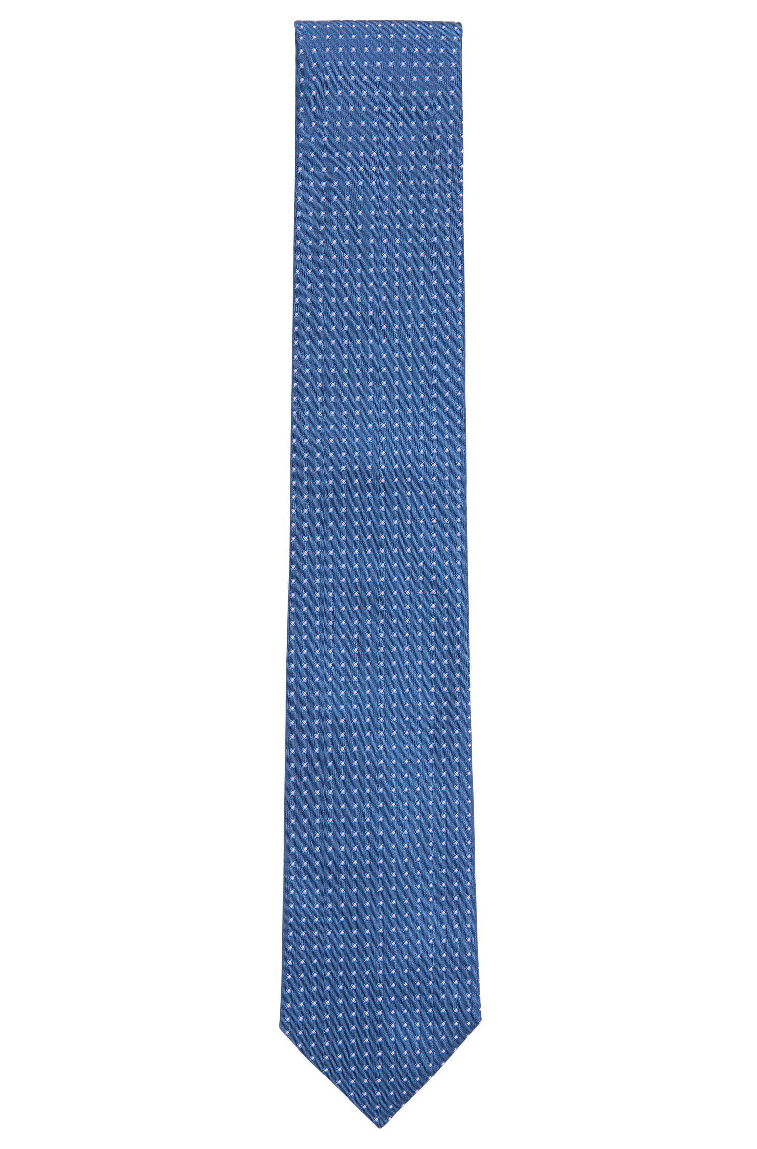 'Tie 7.5 cm' | Regular, Geometric Silk Tie