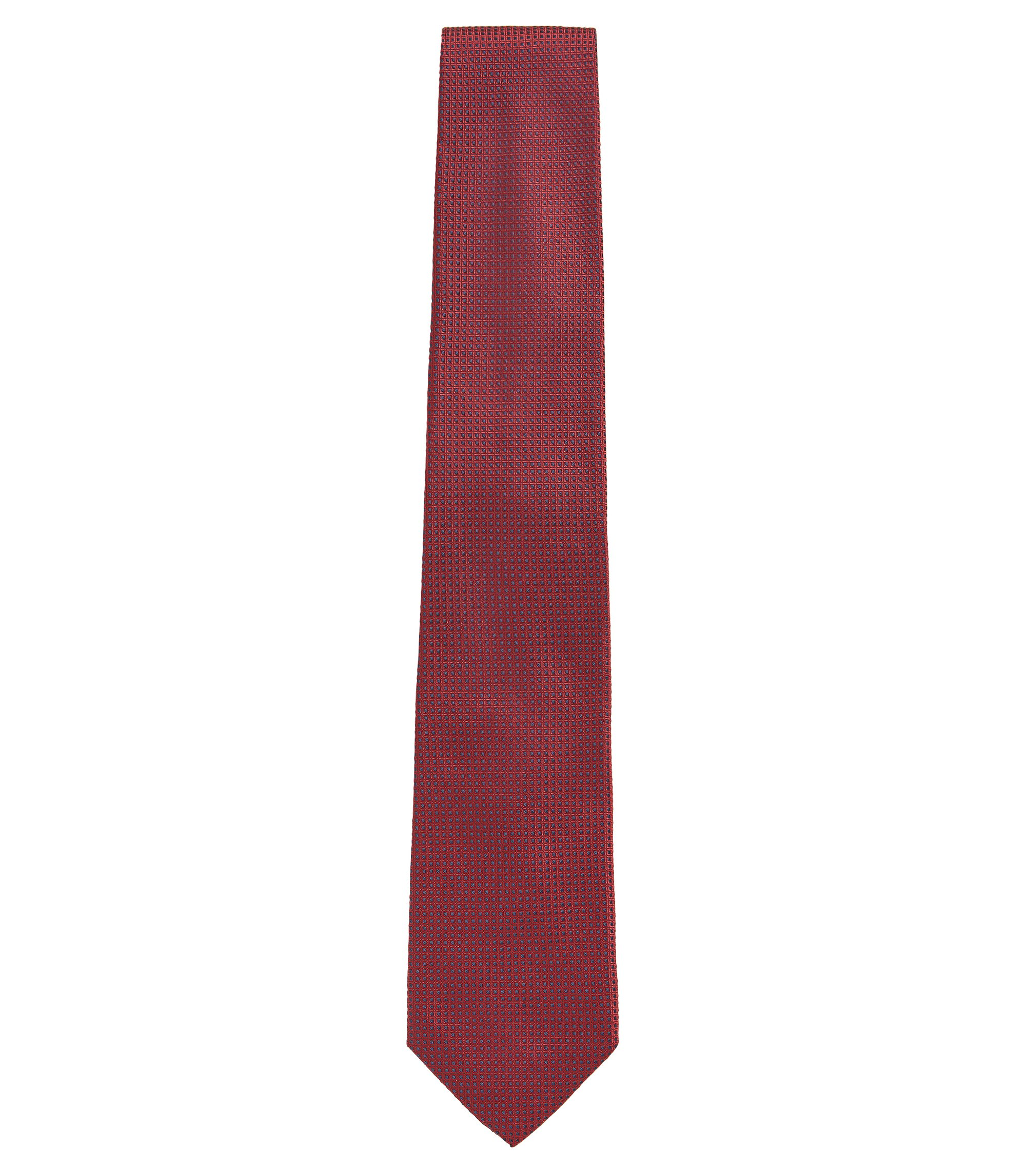Geometric Italian Silk Tie, Red