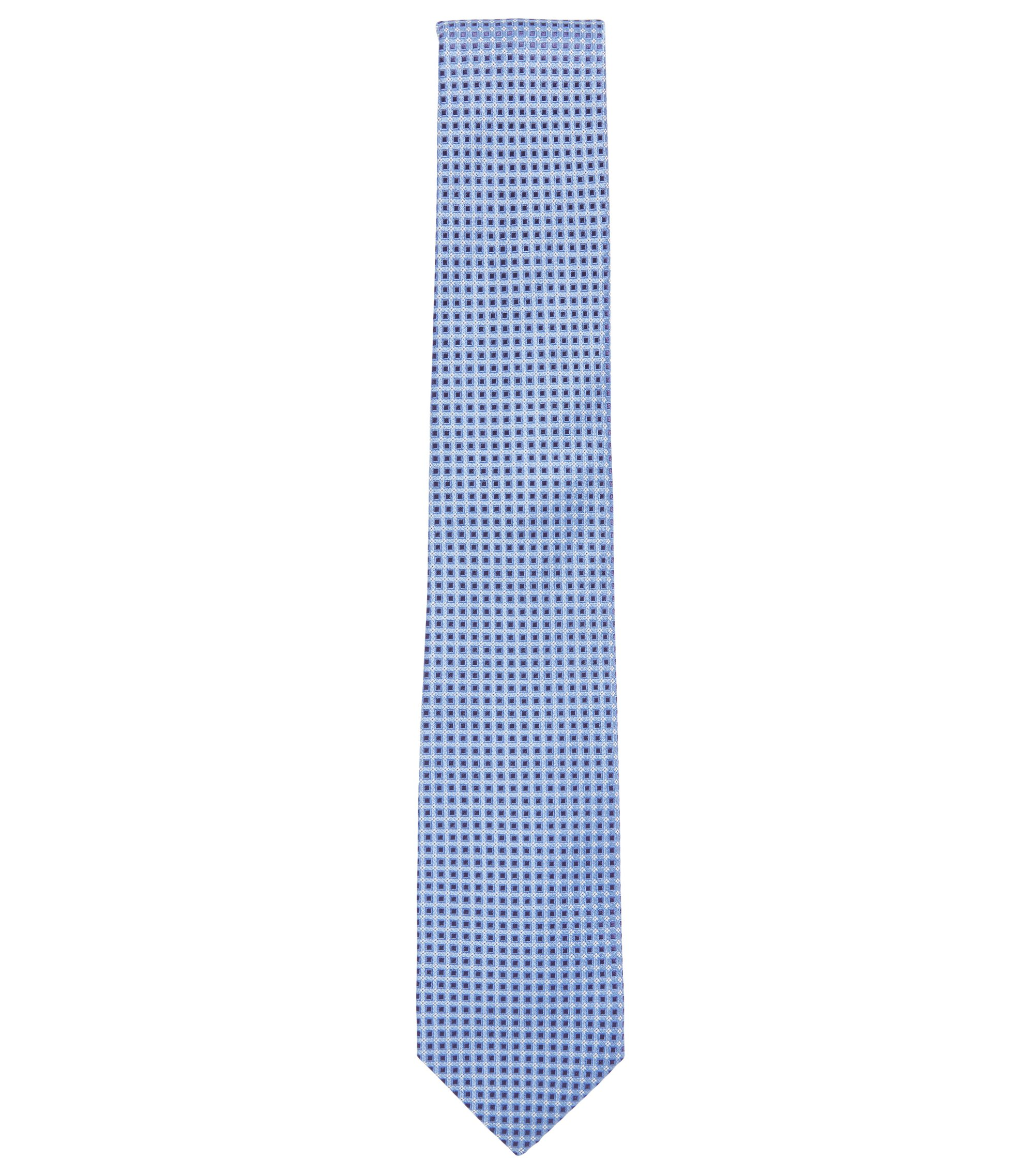 Nailhead Italian Silk Tie, Open Blue