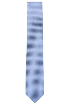 Nailhead Silk Tie, Regular | Tie 7.5 cm, Open Blue