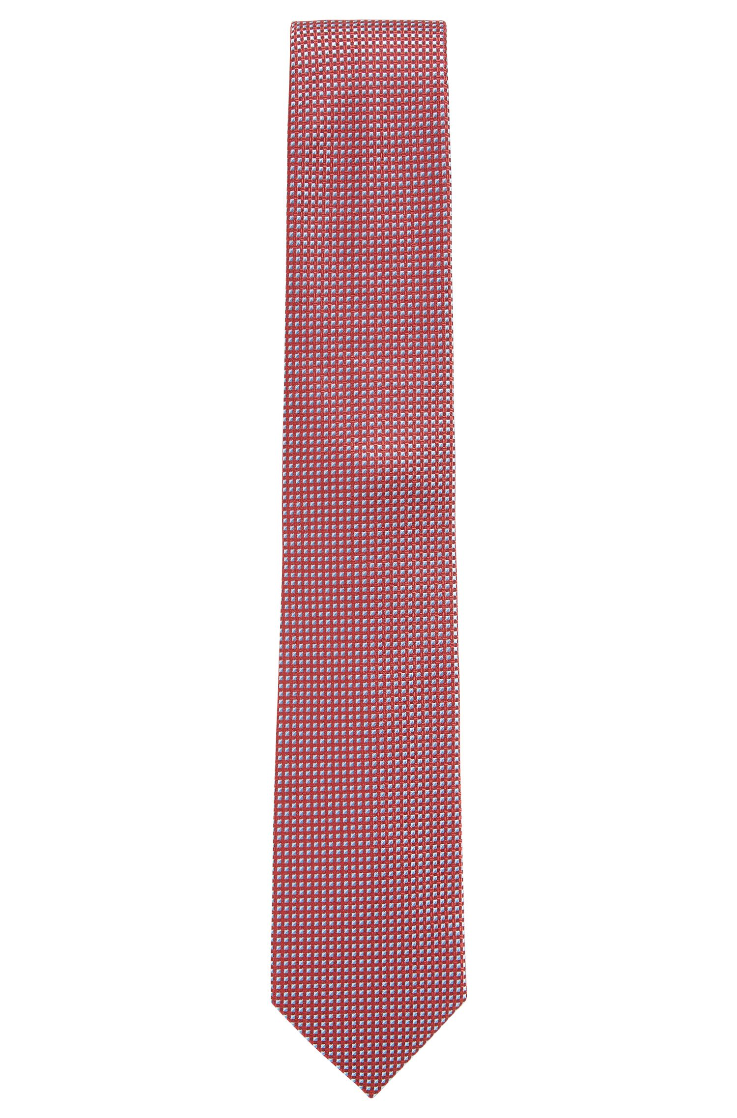 Nailhead Italian Silk Tie, Red