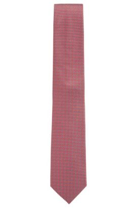 Nailhead Silk Tie, Regular | Tie 7.5 cm, Red