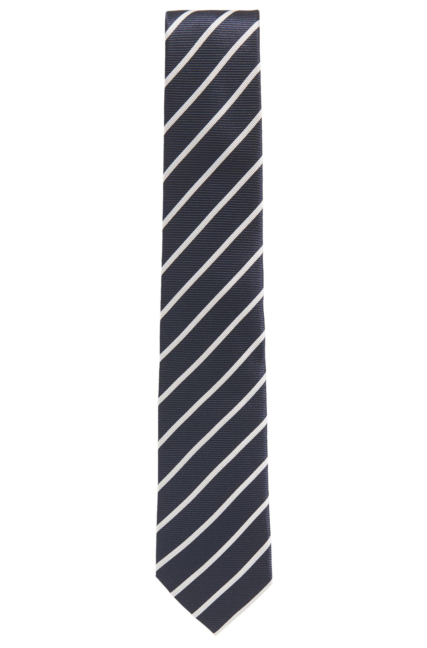 Striped Silk Tie, Regular Fit | Tie 7.5 cm'