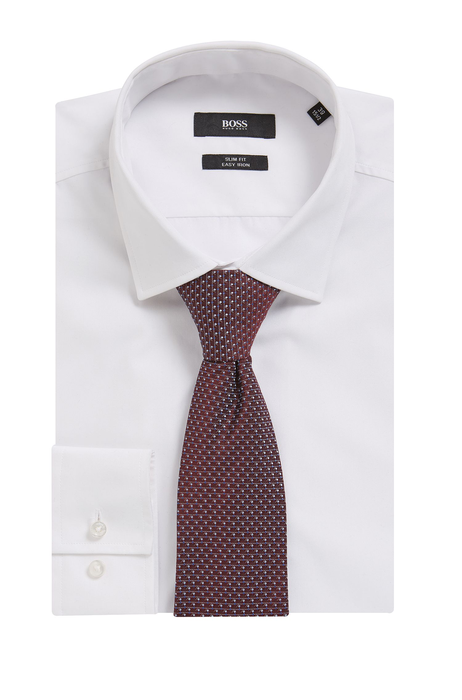 Dotted Italian Silk Tie, Red