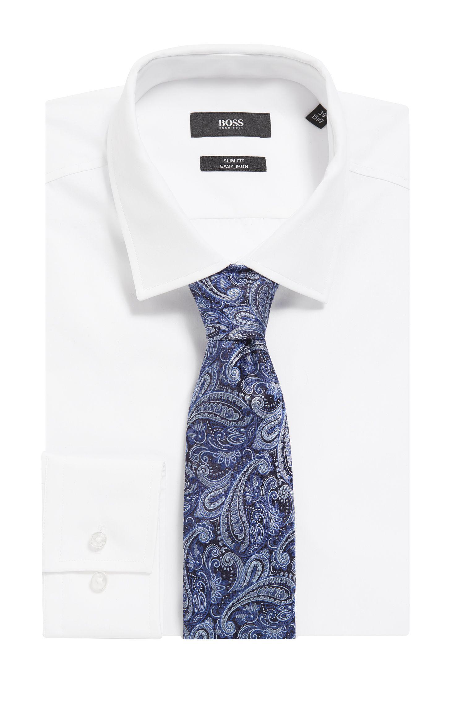 Paisley Italian Silk Tie, Turquoise