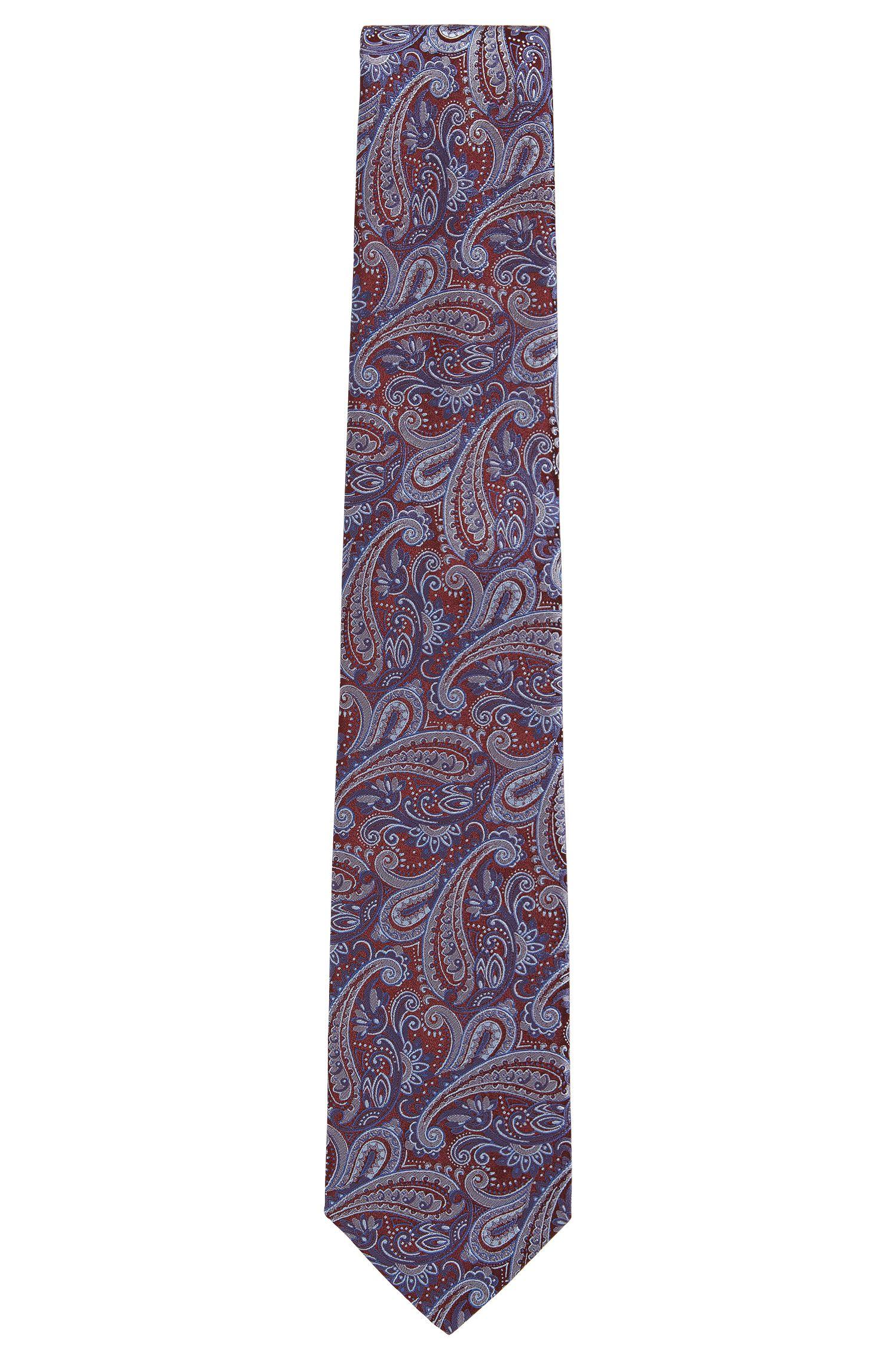 Paisley Italian Silk Tie, Red