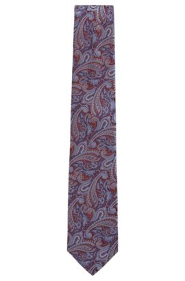 Paisley Silk Tie, Regular | Tie 7.5 cm, Red