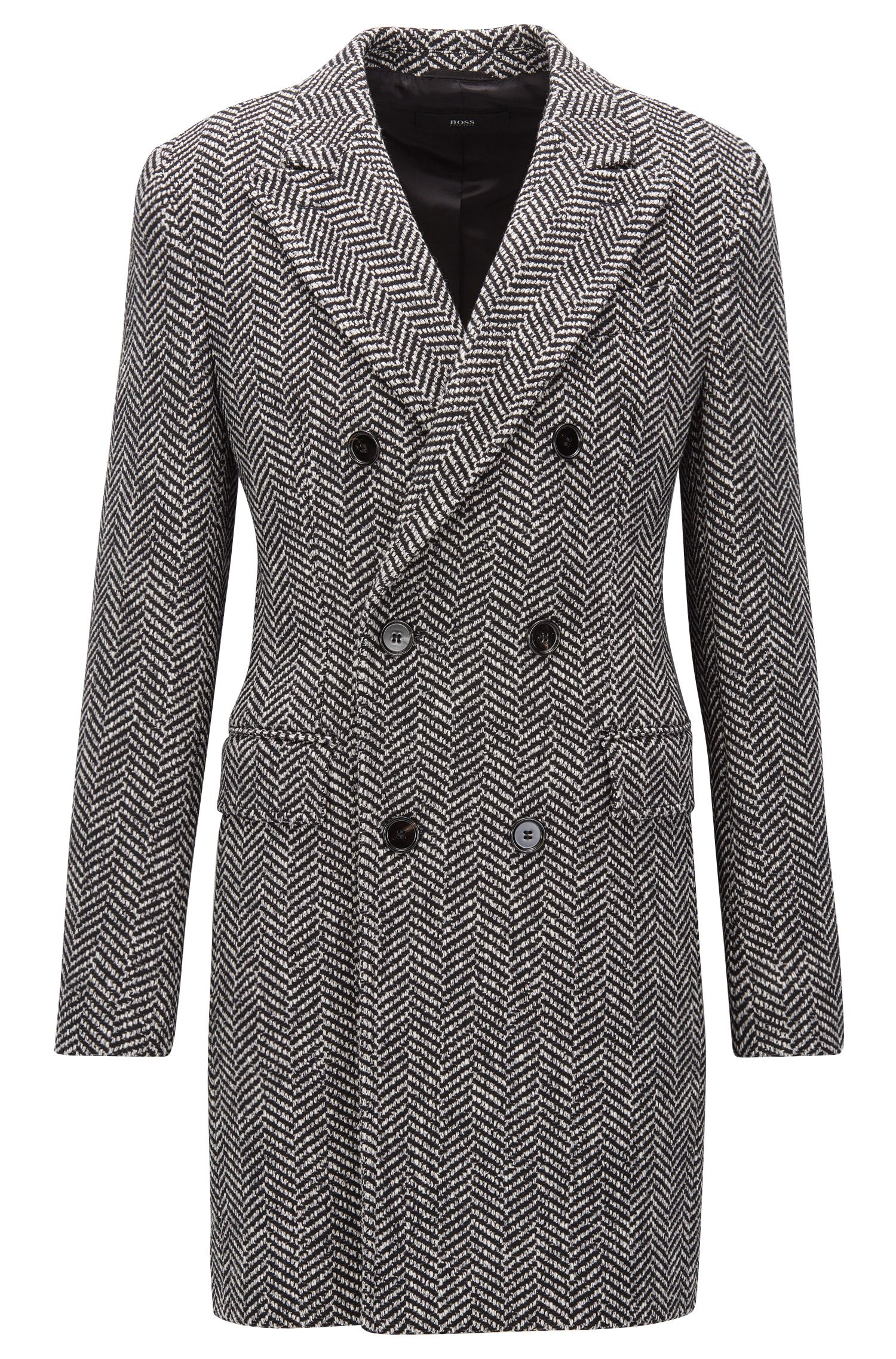 Herringbone Double-Breasted Coat | Darvin