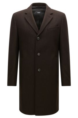Virgin Wool Blend Topcoat | NYE, Dark Brown