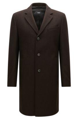 Virgin Wool Blend Topcoat | NYE, Dark Brown