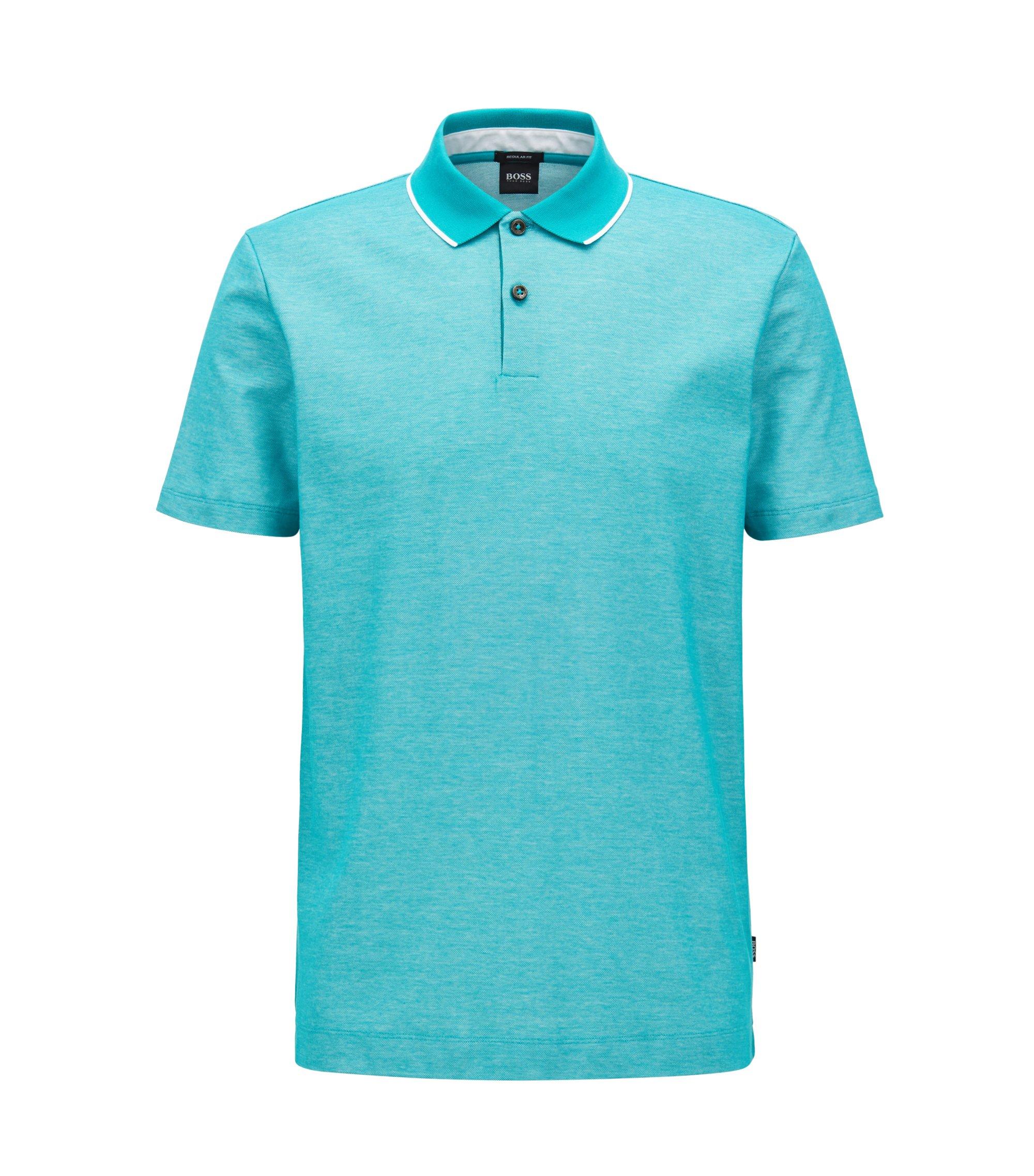 Tipped Cotton Polo Shirt, Regular Fit | Piket, Green