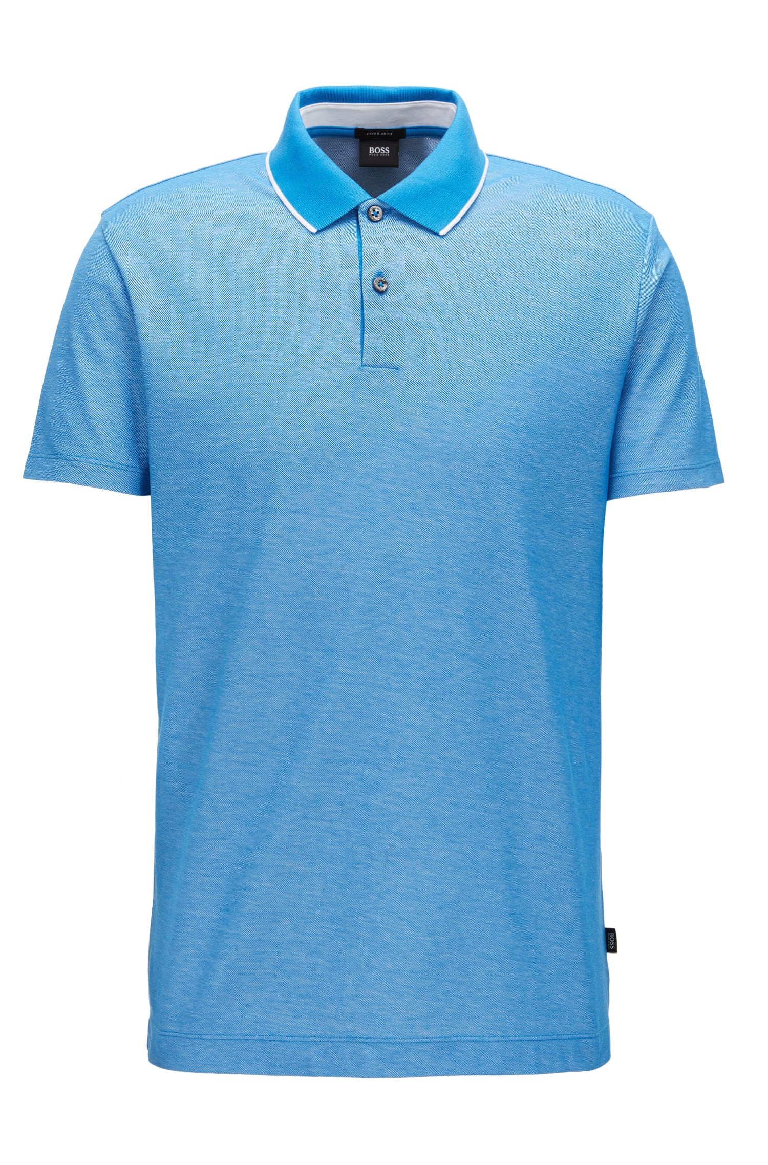 Tipped Cotton Polo Shirt, Regular Fit   Piket