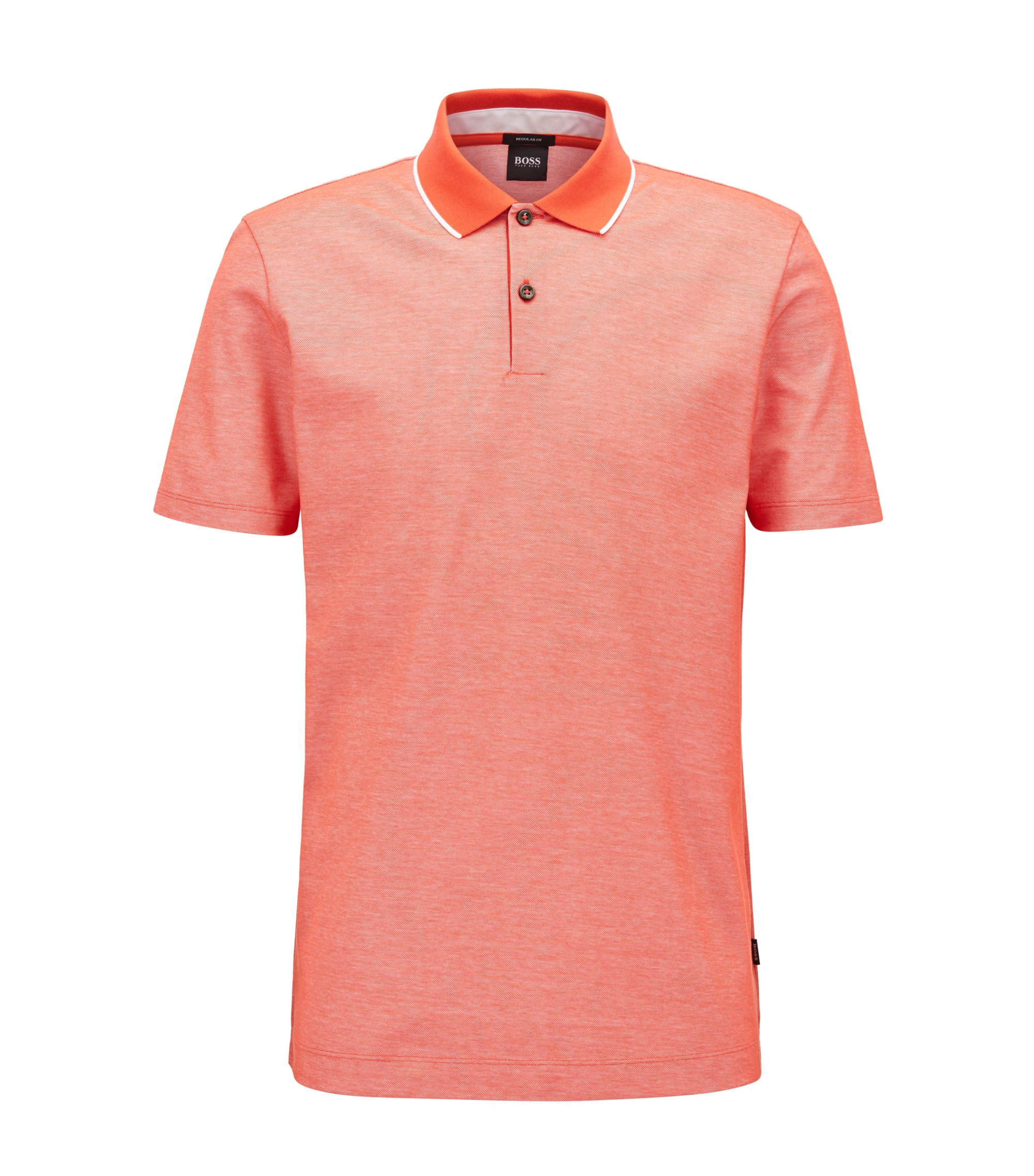 Tipped Cotton Polo Shirt, Regular Fit | Piket, Red