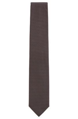 Striped Silk Tie, Regular | Tie 7.5 cm, Brown