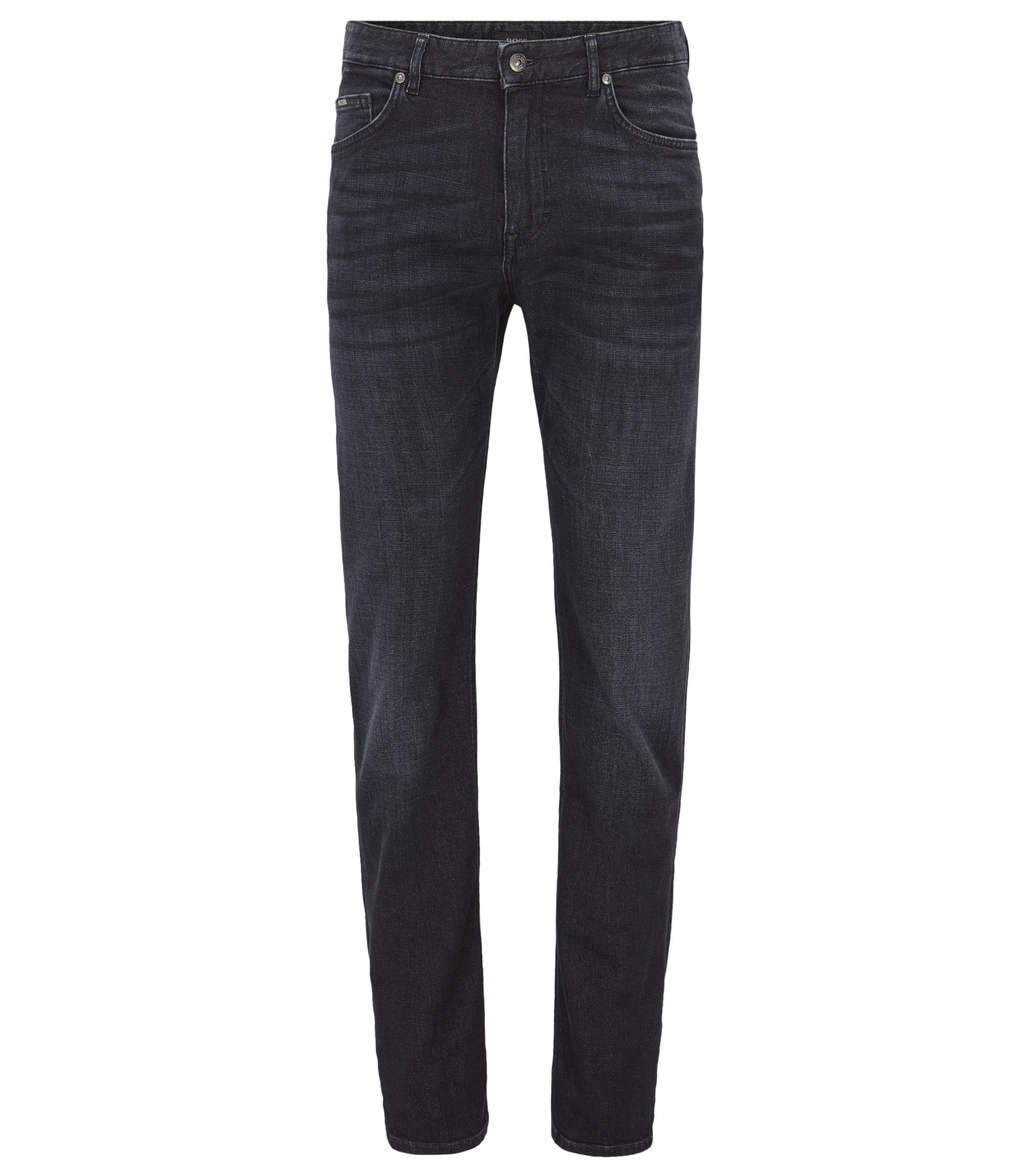 10 oz Stretch Cotton Jeans, Relaxed Fit | Albany, Charcoal