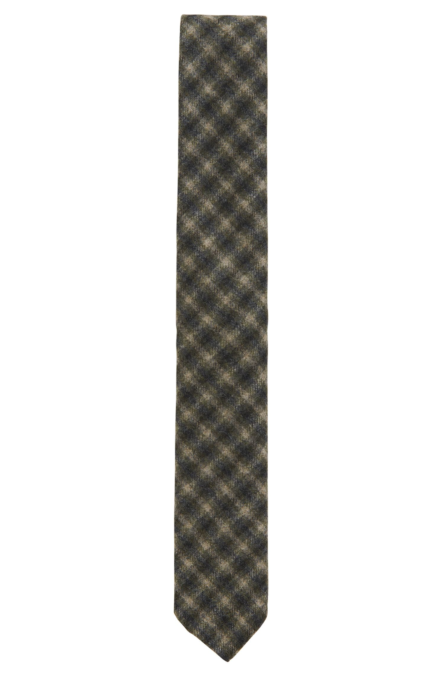 Plaid Virgin Wool Slim Tie