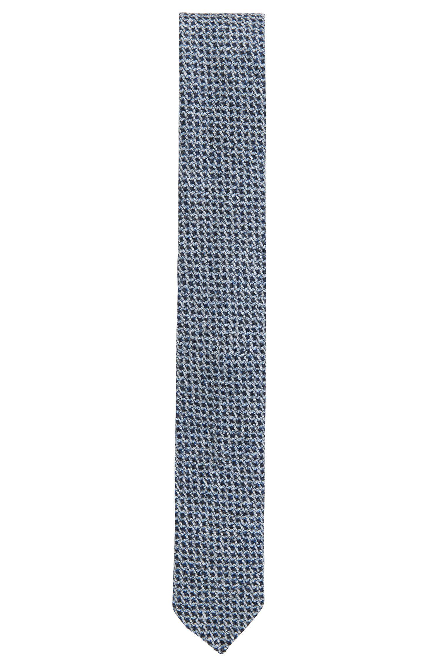 Check Virgin Wool Tie, Slim | Tie 6 cm Soft