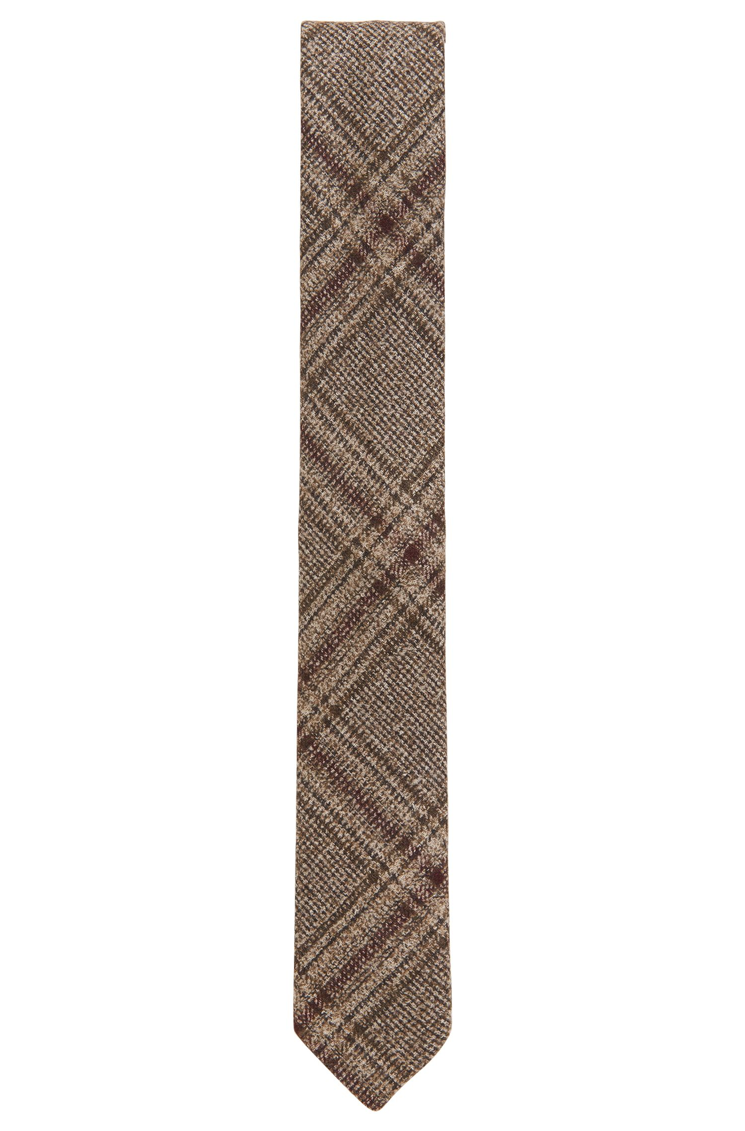 Plaid Wool Blend Tie, Slim   Tie 6 cm Soft