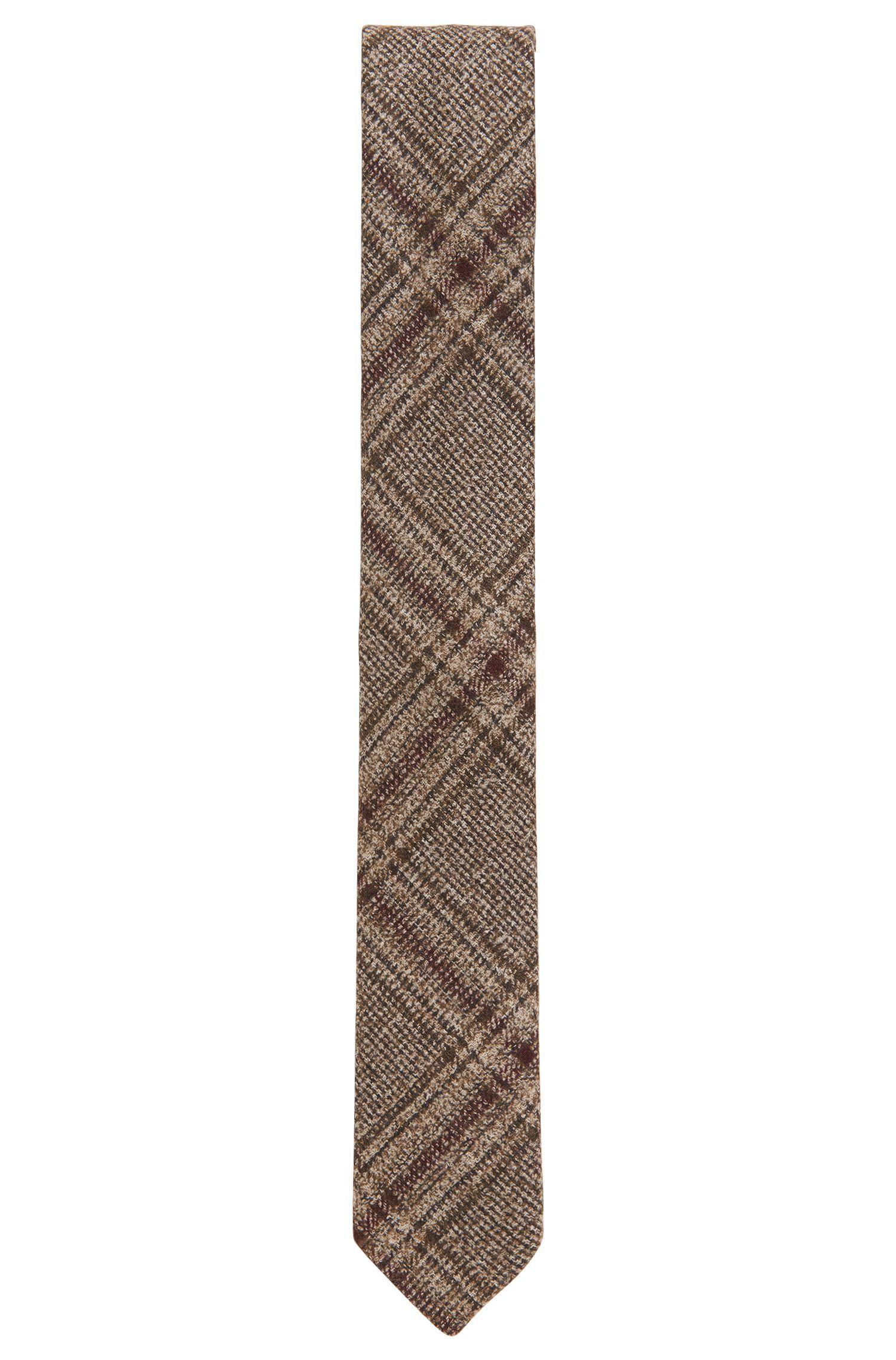 Plaid Wool Blend Tie, Slim | Tie 6 cm Soft