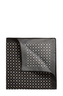 'Pocket sq. cm 33x33' | Micro-Dimond Italian Silk Pocket Square, Black