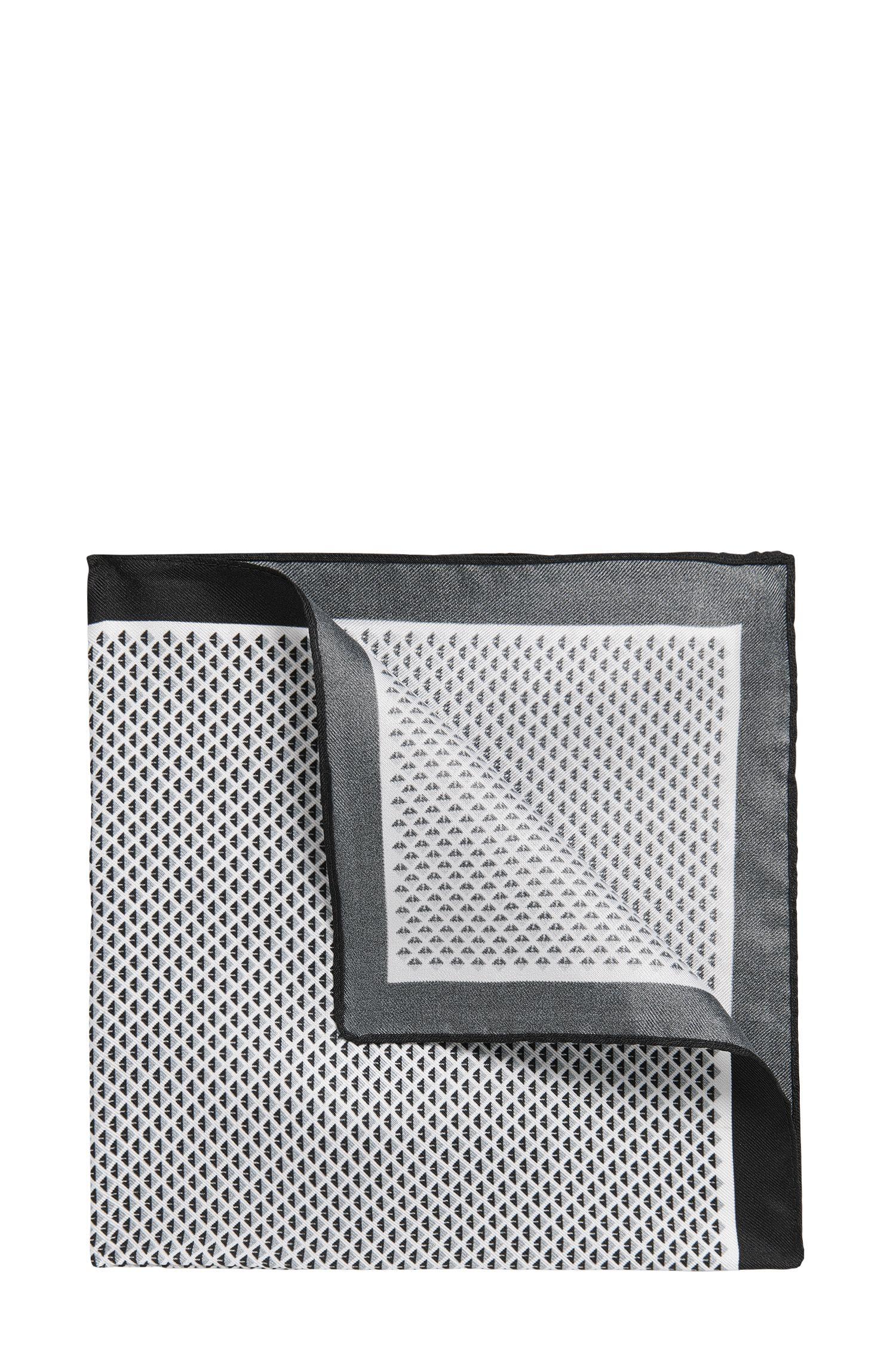 'Pocket sq. cm 33x33' | Micro-Dimond Italian Silk Pocket Square
