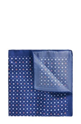 'Pocket sq. cm 33x33' | Micro-Dimond Italian Silk Pocket Square, Turquoise