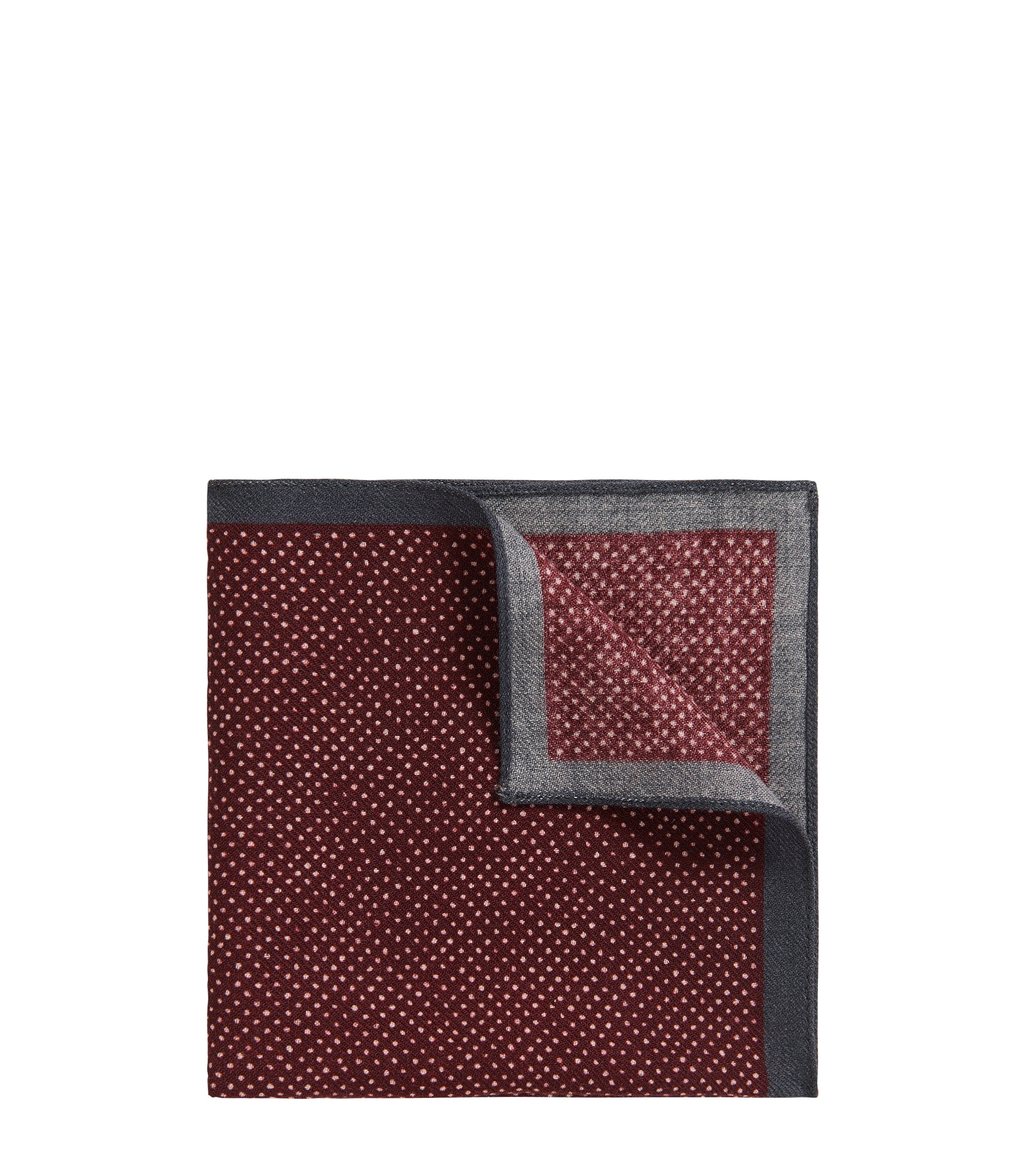 Pindot Wool Pocket Square, Red