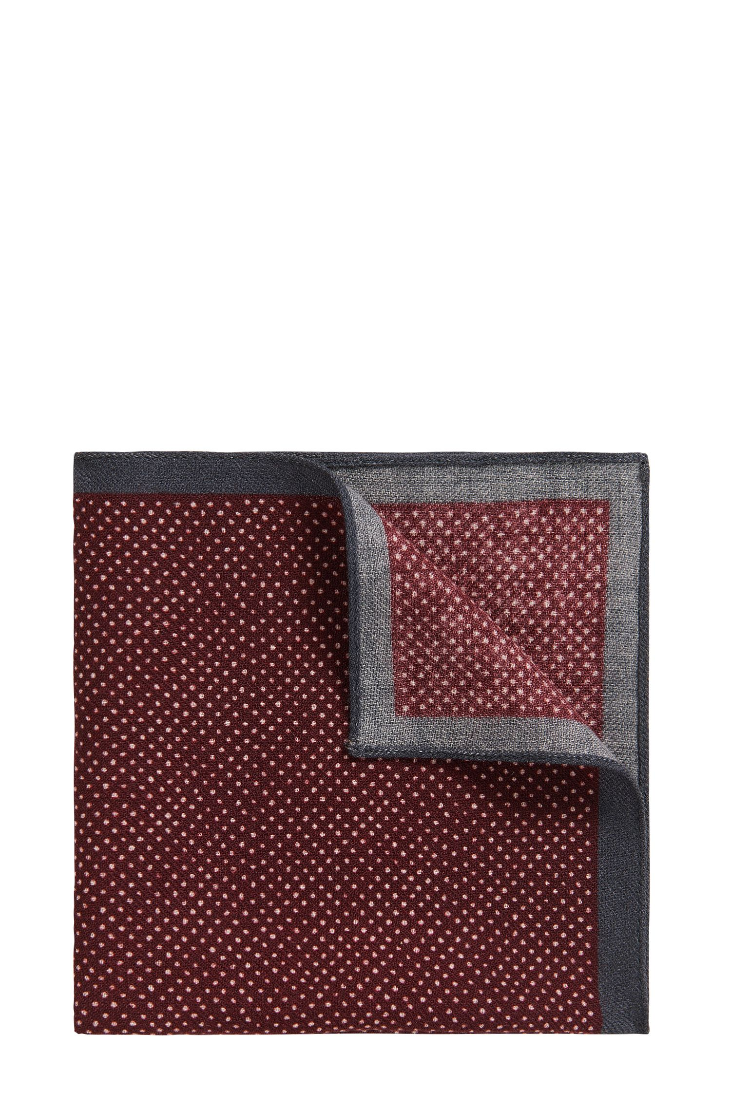 'Pocket sq. 33x33 cm' | Pindot Wool Pocket Square